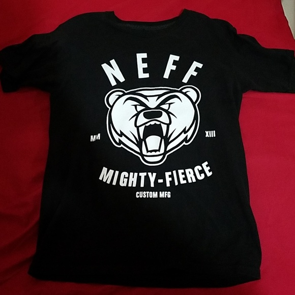 Neff Other - Black NEFF Mighty-Fierce Grizzly Bear T-Shirt